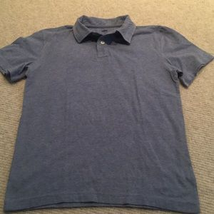 Boys heather blue short sleeve slub polo shirt